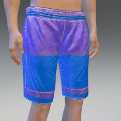 Blue Surfing Shorts w/Back Pocket- Male