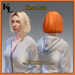 keer hair-blonde base -fit all avatars in mp