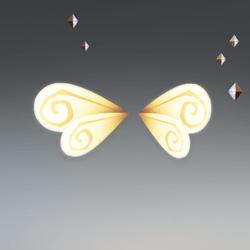 Bee wings stylized