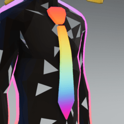 Rainbow tie