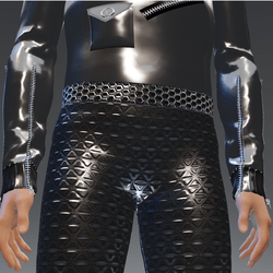 Silver-Trian Futuristic Leggings - Male