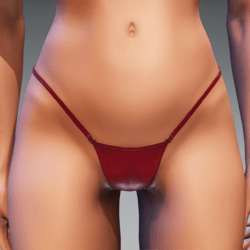 Bad Bunny bikini bottoms (red) for Kismet Body A shapes  by Apocalypse Bunnies