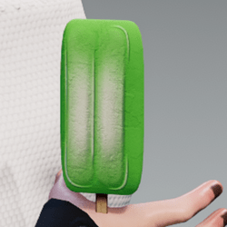 Ice cream lime in arm