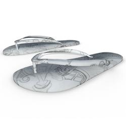 Woman Flip Flops Shoes White Drawing