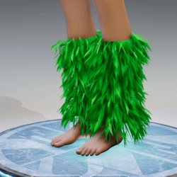 GoGo Dancer Furry Legwarmers LIME GREEN