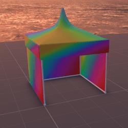 Tent/MarketStall/Gazebo (Rainbow)