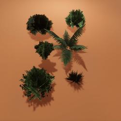 TKA Set bushes - Low Poly