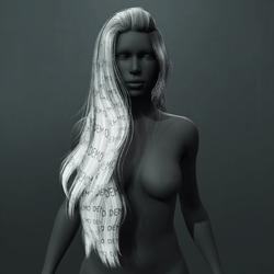 Heather Hair - Gray (Demo)