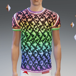BL PixNet Glow-Animated Athletic Shirt - Male
