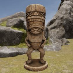 TKA GD Tiki Statue Wood