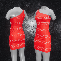 Dress Maja Triangle red