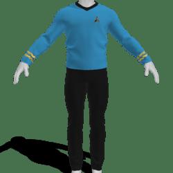 AV2 - Vintage Star Trek Suit Blue