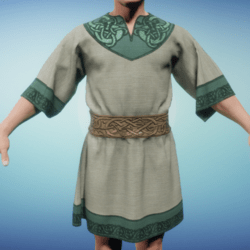 Medieval Norse Tunic Beige