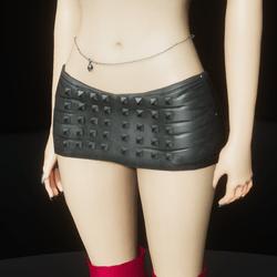 Black leather studded mini skirt (slatanic mechanic)