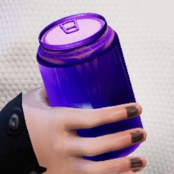 Bottle purple in arm