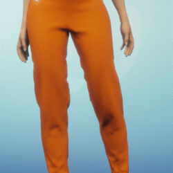 orange linen pants