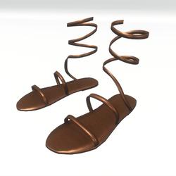 Ancient greek sandals - brown