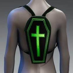 Metallic Coffin Cross Backpack [Green]