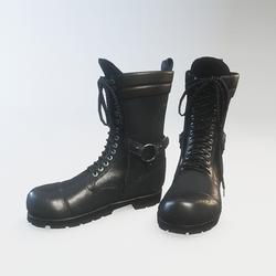 Punk Boots Leather Black - Female (Slim Fit)