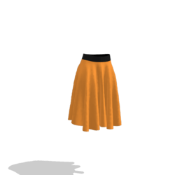 orange and black skirt