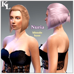 Nuria -blonde base short
