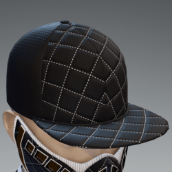 Black and White Scorpion Cap