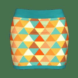 Woman Simple Skirt - Geo