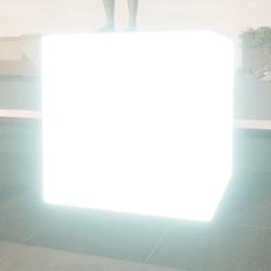 emissive cube remeshed