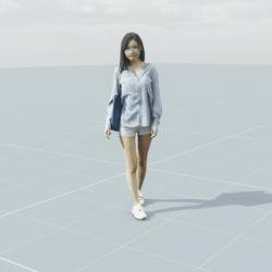 Jess Casual Walking 3D scan static model