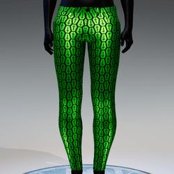 Coffin Cross Metallic Skinny Jeans [Green]