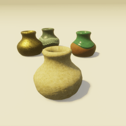 Pottery Inkwell