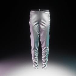 Trousers Silk White