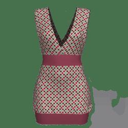 Tube Dress Deep Neck - Retro