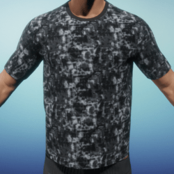 [US] Digital camo grey T shirt