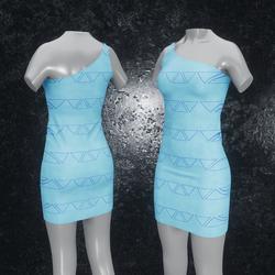 Dress Maja Triangle light blue