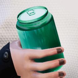 Bottle mint in arm