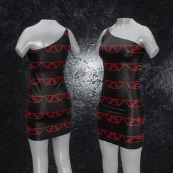 Dress Maja Triangle black red