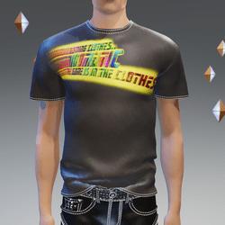 Punk Rock Chaos Black Leather Pants 14 Zippers T-Shirt Black