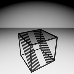 Steff Design Side-Table (1) - Black/Glass
