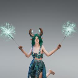 Teal Dual Sparklers
