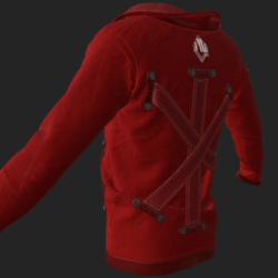SHUAN JACKET EMISSIVE RED