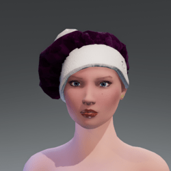 CHRISTMAS FRENCH HAT   VIOLET
