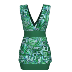 Tube Dress Deep Neck - Wild Green