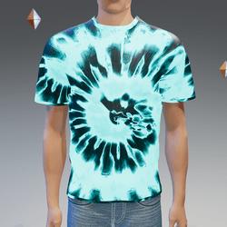 Blue Glowing Tie-Dye T-Shirt - Male