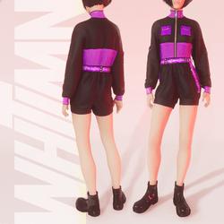 V.to.B Jumpsuit Violet F