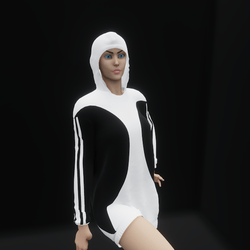 Hoodie Dress Black (TM)