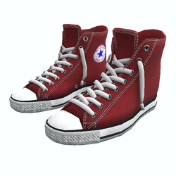 Shoes San-Star sneakers high red for man