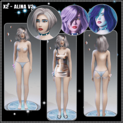 X2 - Alina - V2 Avatar Amber Eyes