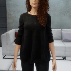Loose Sweater - Black