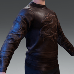Dragon Tattoo Brown Leather | Jacket